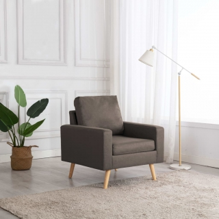 Fauteuil Taupe Tissu