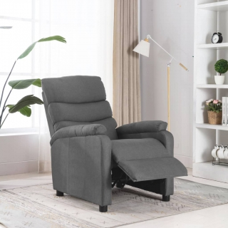 Fauteuil inclinable Gris clair Tissu