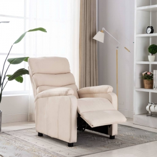 Fauteuil inclinable Crème Tissu