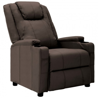 Fauteuil inclinable Marron Similicuir