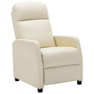 Fauteuil inclinable Blanc Similicuir