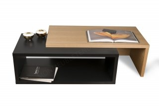 Table basse Jazz - chêne/noir TEMAHOME 9000.625695