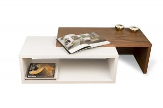 Table basse Jazz - noyer/blanc TEMAHOME 9000.625701
