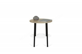 Table d'appoint Ply 50 - chêne/noir TEMAHOME 9003.628719
