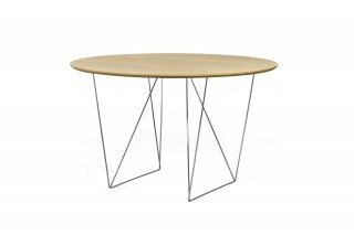 Table Row 120 - chêne vernis/chrome TEMAHOME 9500.053634