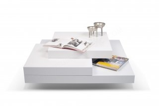 Table basse Slate 90X90 - blanc TEMAHOME 9500.311819