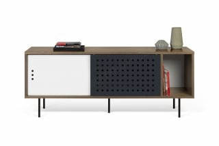 Meuble TV Dann Dots 165 - noyer/blanc/anthracite TEMAHOME 9500.402630