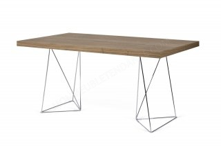 Bureau Multi - noyer/chrome 160 cm TEMAHOME 9500.611124