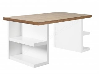 Bureau casier Multi - blanc/noyer 160 cm TEMAHOME 9500.620171