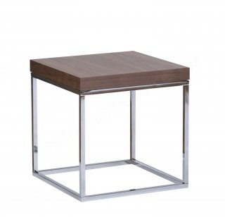 Table d'appoint Prairie 50 - noyer/chrome TEMAHOME 9500.623271