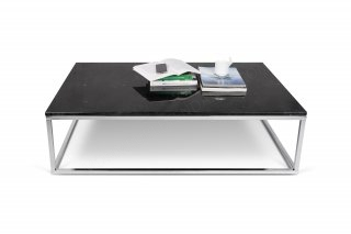 Table basse Prairie 120 Marble - marbre noir/chrome TEMAHOME 9500.624926