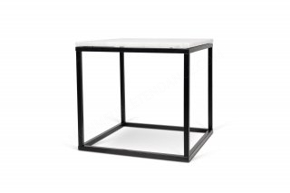 Table d'appoint Prairie 50 Marble - marbre blanc/noir TEMAHOME 9500.625015