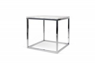 Table d'appoint Prairie 50 Marble - marbre blanc/chrome TEMAHOME 9500.625053