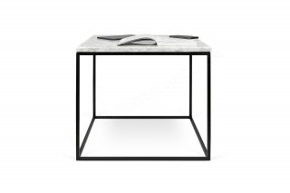 Table basse GLEAM 50 - marbre blanc/noir TEMAHOME 9500.625985