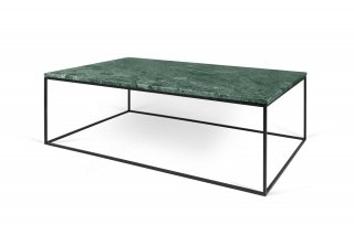 Table basse GLEAM 120 - Vert marbre avec pieds noirs TEMAHOME 9500.626012