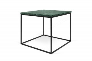 Table basse GLEAM 50 -Vert Marbre avec pieds noirs TEMAHOME 9500.626029
