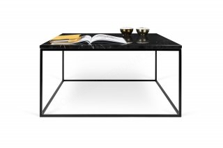 Table basse GLEAM 75 - marbre noir/noir TEMAHOME 9500.626173