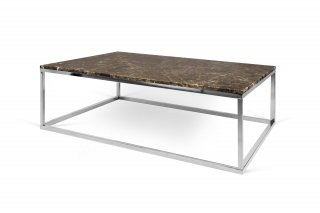 Table basse Prairie 120 Marble - marbre brun/chrome TEMAHOME 9500.626289
