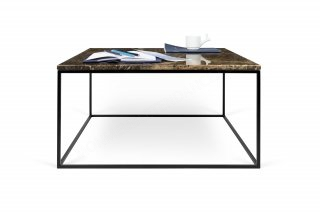 Table basse GLEAM 75 - marbre brun/noir TEMAHOME 9500.626357