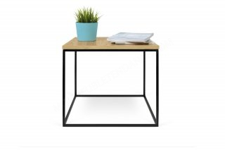 Table basse GLEAM 50 - Chêne avec pieds noirs TEMAHOME 9500.626562