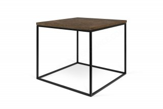 Table basse GLEAM 50 - Effet rouille avec pieds noirs TEMAHOME 9500.626586