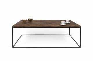Table basse GLEAM 120 effet rouille avec pieds noirs TEMAHOME 9500.626661