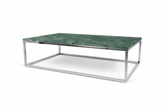 Table basse Prairie 120 Marble - marbre vert/chrome TEMAHOME 9500.626685