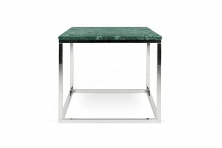 Table d'appoint Prairie 50 Marble - marbre vert/chrome TEMAHOME 9500.626715