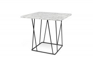 Table d'appoint HELIX 50 - marbre blanc/noir TEMAHOME 9500.627316