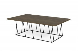 Table basse HELIX 120 - noyer/noir TEMAHOME 9500.628832