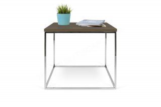 Table basse GLEAM 50 - noyer/chrome TEMAHOME 9500.629020