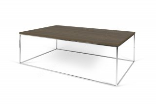 Table basse GLEAM 120 - noyer / chrome TEMAHOME 9500.629044