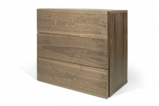 Commode Aurora 3 tiroirs - noyer TEMAHOME 9500.759864