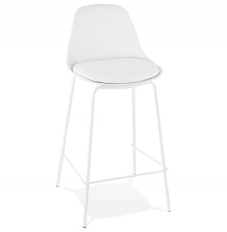 Tabouret de bar design ESCAL MINI KOKOON BS01410WH