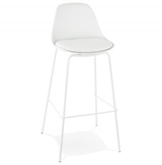 Tabouret de bar design ESCAL KOKOON BS01430WH