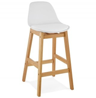 Tabouret de bar design ELODY MINI KOKOON BS01440WHWH