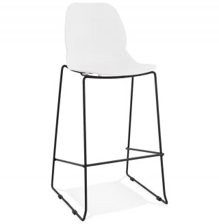 Tabouret de bar design ZIGGY KOKOON BS01720WHBL