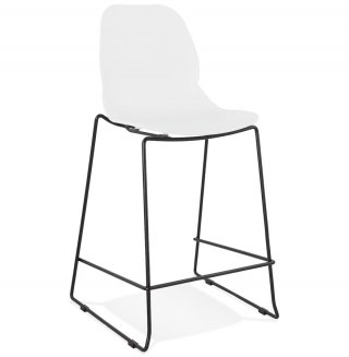 Tabouret de bar design ZIGGY MINI KOKOON BS01730WHBL
