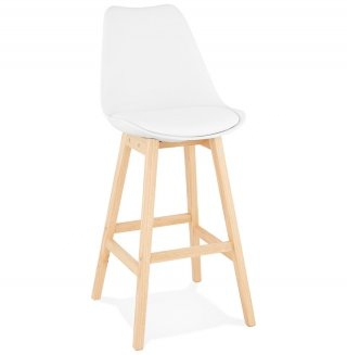 Tabouret de bar design APRIL KOKOON BS01870WHNA