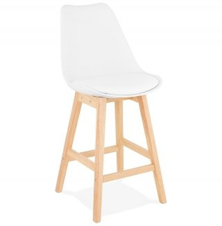 Tabouret de bar design APRIL MINI KOKOON BS01920WHNA