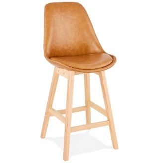 Tabouret de bar design JANIE MINI KOKOON BS01950BRNA