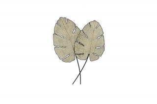 FEUILLES MONSTERA METAL IMITATION CANNAGE MD4927
