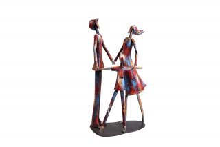 SCULPTURE METAL RONDE FAMILLE SD1070