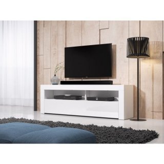 Meuble TV MEX blanc mat / blanc brillant