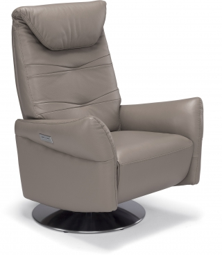SPAZIO RELAX - Fauteuil Relaxation Adrian 2 moteurs cuir suave taupe