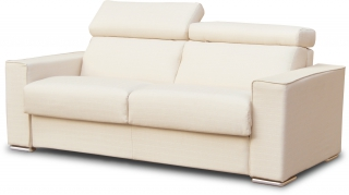 CITY - Salon tissu Andorra 3 pl convertible 140 ritz beige