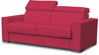 CITY - Canapé lit Andorra 3 pl convertible 160 mf rouge