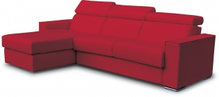 CITY - Canapé lit Andorra angle convertible 160 mf rouge