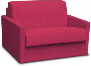 CITY - Fauteuil convertible Aosta tissu rouge couchage 75x195 cm