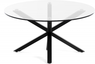 LF - Table basse Arya table basse ronde pieds noir